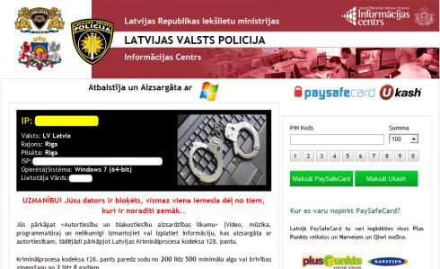 Latvijā strauji izplatījies izspiedējvīruss, kura uznirstošais logs satur tekstu samērā labā latviešu valodā, izmanto Latvijas policijas atribūtiku un nobloķē lietotāja […]