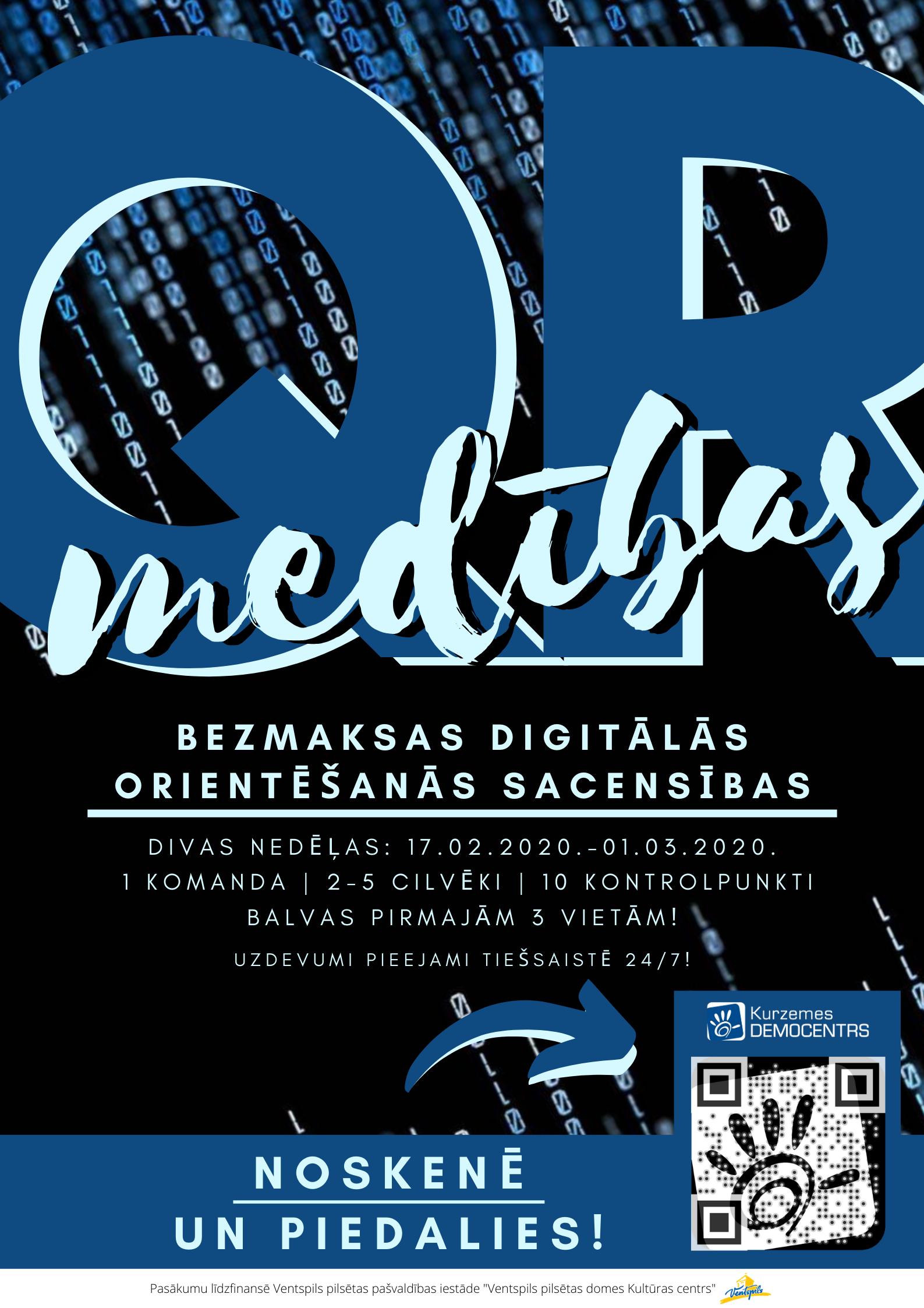 """Divu nedēļu garumā no 17.02. līdz 01.03.2020. norisināsies Zinātnes un tehnoloģiju muzejs """"Kurzemes Democentrs"""" organizētās """"QR digitālās medības"""", kurās dalībniekiem būs jāmeklē 10 dažādās mājaslapās izvietoti QR kodi, tādējādi apgūstot […]"""